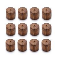Holzperlen, Holz, Zylinder, originale Farbe, 10x10mm, Bohrung:ca. 1.8mm, 40PCs/Tasche, verkauft von Tasche