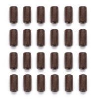 Holzperlen, Holz, Zylinder, dunkle Kaffee-Farbe, 12x6mm, Bohrung:ca. 2mm, 300PCs/Tasche, verkauft von Tasche