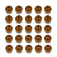 Holzperlen, Holz, Trommel, originale Farbe, 6x4mm, Bohrung:ca. 2mm, 500PCs/Tasche, verkauft von Tasche