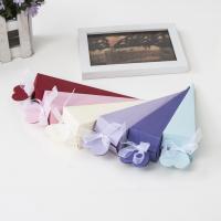 Papier Hochzeit-Candy-Box, mit Satinband, keine, 165x42x42mm, 100PCs/Menge, verkauft von Menge