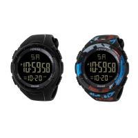 honhx® Uhrenkollektion, TPU Kunststoff, mit Glas & Harz & Edelstahl, unisex & einstellbar & verschiedene Muster für Wahl & LED & glänzend, 50x17mm, Länge:ca. 9 ZollInch, verkauft von PC