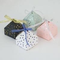 Papier Hochzeit-Candy-Box, mit Satinband, keine, 60x60x75mm, 50PCs/Menge, verkauft von Menge