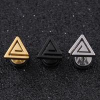 Titanstahl Ohrpiercing, Dreieck, plattiert, unisex, keine, 12mm, 8mm, 1.2mm, 10PCs/Menge, verkauft von Menge