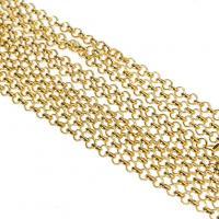 Eisen Kette Halskette, plattiert, unisex & Rolo Kette, keine, frei von Blei & Kadmium, 2mm, Länge:ca. 31 ZollInch, 10SträngeStrang/Menge, verkauft von Menge