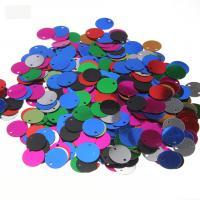 Kunststoff Pailletten Anhänger, flache Runde, gemischte Farben, 12mm, Bohrung:ca. 1mm, 500PCs/Menge, verkauft von Menge