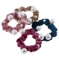 Stoff Gummiband, mit Kunststoff Perlen, elastisch & für Frau, 150mm, 10PCs/Menge, verkauft von Menge