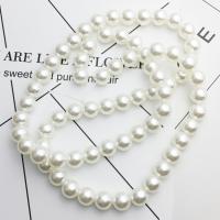 ABS-Kunststoff-Perlen Perle, BeCharmed Perle, Einbrennlack, Bohrung:ca. 0.5mm, Länge:ca. 40 ZollInch, 10StrangStrang/Menge, verkauft von Menge