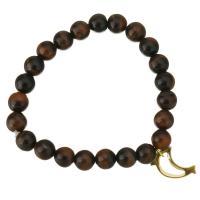 Tigerauge Armband, mit Edelstahl, Dolphin, goldfarben plattiert, Armband  Bettelarmband & für Frau, 11x18mm, 9mm, verkauft per ca. 7 ZollInch Strang