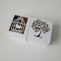 Hochzeit Süßigkeitenkasten, Papier, verschiedene Muster für Wahl, 60x60x38mm, 100PCs/Menge, verkauft von Menge