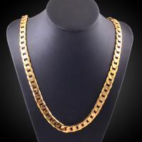 Messingkette Halskette, Messing, goldfarben plattiert, Schlangekette & für Frau, 8mm, verkauft per ca. 20 ZollInch Strang
