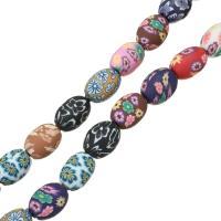 Polymer Ton Perlen , rund, für Frau, farbenfroh, 15x11x11mm, Bohrung:ca. 2mm, Länge:ca. 15 ZollInch, 5SträngeStrang/Menge, ca. 25PCs/Strang, verkauft von Menge
