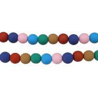 Polymer Ton Perlen , rund, für Frau, keine, 8x8.50x8.50mm, Bohrung:ca. 2mm, Länge:ca. 16 ZollInch, 5SträngeStrang/Menge, ca. 50PCs/Strang, verkauft von Menge
