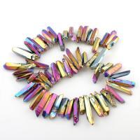 Natürlicher Quarz Perlen Schmuck, 7x25mm-9x44mm, Bohrung:ca. 1mm, verkauft per ca. 15.5 ZollInch Strang
