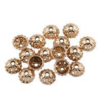Zinklegierung Perlenkappe, Blume, vergoldet, frei von Blei & Kadmium, 8x4mm, Bohrung:ca. 1mm, 20PCs/Tasche, verkauft von Tasche