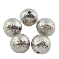 Zink Legierung Perlen Schmuck, Zinklegierung, rund, Platinfarbe platiniert, frei von Blei & Kadmium, 10mm, Bohrung:ca. 1mm, 10PCs/Tasche, verkauft von Tasche
