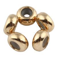 Zink Legierung Perlen Schmuck, Zinklegierung, Rondell, goldfarben plattiert, frei von Blei & Kadmium, 4x8mm, Bohrung:ca. 1mm, 20PCs/Tasche, verkauft von Tasche