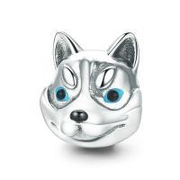 Thailand European Perlen, Hund, ohne troll & Emaille, 11x14mm, verkauft von PC