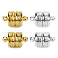 Messing Magnetverschluss, plattiert, Einzelstrang, keine, frei von Nickel, Blei & Kadmium, 16.5x10mm, Bohrung:ca. 1mm, 5PCs/Tasche, verkauft von Tasche