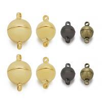 Messing Magnetverschluss, plattiert, verschiedene Größen vorhanden & Einzelstrang, keine, frei von Nickel, Blei & Kadmium, Bohrung:ca. 1-2mm, 5PCs/Tasche, verkauft von Tasche