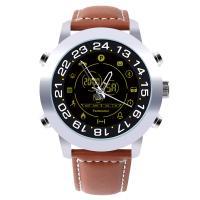 RISTOS® Uhrenkollektion, Leder, mit Glas & Edelstahl, plattiert, Multifunktions & unisex & einstellbar & LED & glänzend, keine, Länge:ca. 11 ZollInch, verkauft von PC