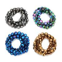 Nicht-magnetische Hämatit Perlen, Non- magnetische Hämatit, flache Runde, plattiert, keine, 6mm, Bohrung:ca. 1mm, ca. 52PCs/Strang, verkauft per ca. 12 ZollInch Strang