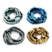 Nicht-magnetische Hämatit Perlen, Non- magnetische Hämatit, plattiert, keine, 8mm, Bohrung:ca. 1mm, ca. 78PCs/Strang, verkauft per ca. 15 ZollInch Strang
