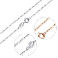 925 Sterling Silber Halskette Kette, 925er Sterling Silber, plattiert, unterschiedliche Länge der Wahl & Boston-Kette & für Frau, keine, 1mm, verkauft von Strang