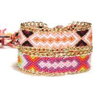 Baumwollfaden Armband, geflochten & verschiedene Muster für Wahl & für Frau, verkauft per ca. 17.3 ZollInch Strang