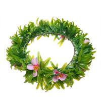 Stoff Haarkranz, mit Kunststoff, Blume, für Frau, grün, 55x300mm, verkauft von PC