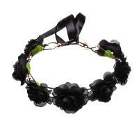 Stoff Haarkranz, mit Satinband, Blume, für Frau, keine, 160x610mm, verkauft von PC