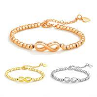 Titan Edelstahl Armband, Titanstahl, mit Verlängerungskettchen von 2inch, Nummer 8, plattiert, für Frau, keine, verkauft per ca. 6 ZollInch Strang