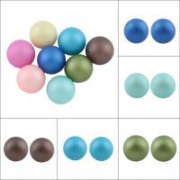 ABS-Kunststoff-Perlen Perle, rund, kein Loch & satiniert, keine, 10mm, ca. 500PCs/Tasche, verkauft von Tasche