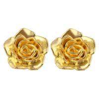 ABS-Kunststoff-Perlen Perle, Blume, Goldfarbe, 19x19x9mm, Bohrung:ca. 1mm, ca. 400PCs/Tasche, verkauft von Tasche