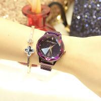 Damen Armbanduhr, Edelstahl, mit Glas, flache Runde, plattiert, Sternendesign & für Frau & wasserdicht, keine, 36x10mm, Länge:ca. 8.6 ZollInch, verkauft von PC