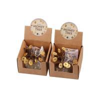 Messing mit Zettelkasten & Klarer Quarz, Baum, frei von Nickel, Blei & Kadmium, 38mm, verkauft von Box