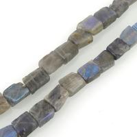 Labradorit Perlen, Rechteck, 9-12x8-10x4-8mm, Bohrung:ca. 1mm, ca. 37PCs/Strang, verkauft per ca. 16 ZollInch Strang