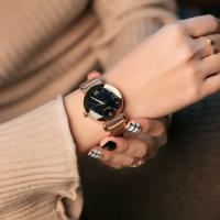 DIMINI® Uhrenkollektion, Edelstahl, mit Glas, flache Runde, plattiert, Sternendesign & für Frau, keine, 38x13mm, Länge:ca. 8.6 ZollInch, verkauft von PC