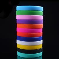 Silikon Armbänder, unisex, keine, 12x2mm, Länge:ca. 6.3 ZollInch, verkauft von PC