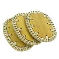 Rohrstock Kostüm Zubehör, flachoval, handgefertigt & gewebte Muster, 43x63x4mm, 50PCs/Tasche, verkauft von Tasche