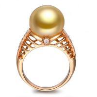 Messing Fingerring, mit Glasperlen, echtes Rósegold plattiert, verschiedene Größen vorhanden & für Frau & mit Strass, frei von Nickel, Blei & Kadmium, verkauft von PC