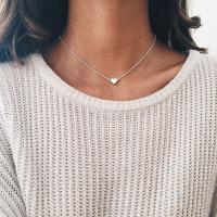 Zinklegierung Schmuck Halskette, mit Verlängerungskettchen von 1.5lnch, Herz, plattiert, Oval-Kette & für Frau, keine, frei von Nickel, Blei & Kadmium, verkauft per ca. 15 ZollInch Strang