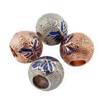 Zink Legierung Europa Perlen, Zinklegierung, Trommel, plattiert, ohne troll & Emaille, keine, frei von Blei & Kadmium, 9x11mm, Bohrung:ca. 5mm, 5PCs/Tasche, verkauft von Tasche