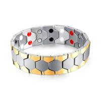 Titanstahl Armband, plattiert, für den Menschen, keine, 18mm, verkauft per ca. 8 ZollInch Strang