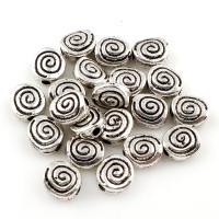 Zink Legierung Perlen Schmuck, Zinklegierung, antik silberfarben plattiert, frei von Blei & Kadmium, 7x6x3mm, Bohrung:ca. 1mm, 2000PCs/Tasche, verkauft von Tasche