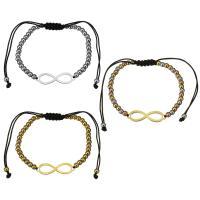 Edelstahl Woven Ball Armband, mit Nylonschnur, Unendliche, plattiert, einstellbar & für Frau, keine, 28x8mm, 3x4mm, verkauft per ca. 6-11 ZollInch Strang