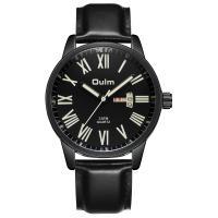 Oulm® Herren Schmuckuhr, Zinklegierung, mit PU Leder & Glas, plattiert, für den Menschen, keine, 42x12mm, Länge:ca. 9.2 ZollInch, verkauft von PC