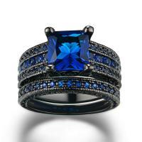 Messing Fingerring, mit Österreichischer Kristall, metallschwarz plattiert, verschiedene Größen vorhanden & für Frau & mit Strass, frei von Nickel, Blei & Kadmium, 8x8mm, verkauft von PC