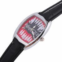 Damen Armbanduhr, PU Leder, mit Glas & Zinklegierung, silberfarben plattiert, einstellbar & für Frau, keine, 25x8mm, Länge:ca. 8.6 ZollInch, verkauft von PC