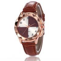 Damen Armbanduhr, PU Leder, mit Glas & Zinklegierung, Rósegold-Farbe plattiert, einstellbar & für Frau, keine, 34x9mm, Länge:ca. 8.8 ZollInch, verkauft von PC