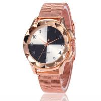 Damen Armbanduhr, Zinklegierung, mit Glas, Rósegold-Farbe plattiert, einstellbar & für Frau & mit Strass, keine, frei von Nickel, Blei & Kadmium, 38x9mm, Länge:ca. 9 ZollInch, verkauft von PC